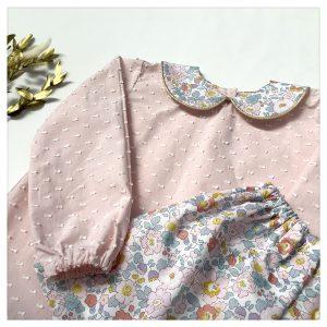 Blouse-en-plumetis-de-coton-rose-et-liberty-betsy-terracotta-enfant-bébé-retrochic-boutique