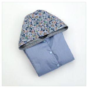 veste pour bébé et enfant gris/bleu orage/betsy denim