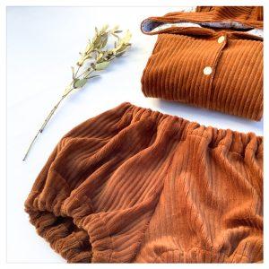 veste pour bébé et enfant velours cotelé camel/coton camel/theo gold